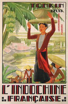 Tonkin Delta, Indochine Francaise