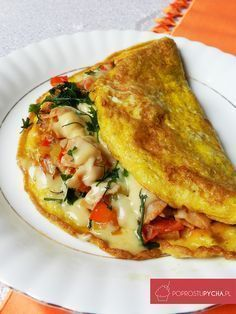 Omlet przepis Easy Meals For Two, Cooking Recipes, Healthy Recipes, Best Appetizers, Italian Recipes, Love Food, Breakfast Recipes, Food Porn, Food And Drink