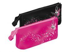 PLAYBOY MAGIC ASTUCCIO 3 TASCHE  Astuccio tre tasche con zip in tessuto lucido rosa o nero
