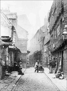 The Saffron Hill Rookery where Dickens placed Fagins Den in the masterpiece that is Oliver Twist, London, 19th century.