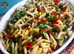 Erişte Salatası Pasta Salad, Chicken, Cooking, Ethnic Recipes, Food, 1, Crab Pasta Salad, Kitchen, Essen