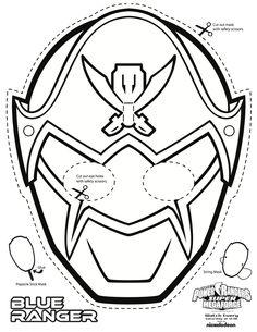 Samurai Printable Coloring Masks, Printable Mask, Paper