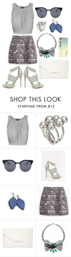 """""""Untitled #8"""" by shiptail ❤ liked on Polyvore featuring Topshop, Quay, Lost Ink, J.Crew, Style & Co., Bijoux de Famille and Casetify"""