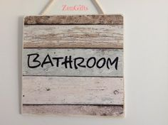 Signs, Hand Crafted quality custom made 'Bathroom' Sign, FREE SHIPPING
