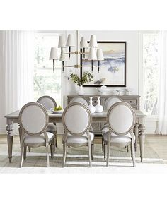 Elina Expandable Dining Furniture Collection Created for Macys - Dining Set - Ideas of Dining - Beautiful country French dining set Elina from Macys French Country Rug, French Country Dining Room, French Country Bedrooms, French Country Decorating, French Dining Rooms, Elegant Dining Room, French Country Furniture, French Country Interiors, French Dining Chairs