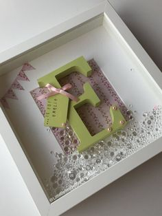 Personalised box frames. by LittleBellesButtons on Etsy & Personalised handmade baby name frame keepsake gift birth ... Aboutintivar.Com