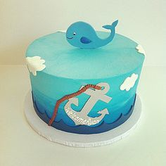 whale first birthday cake - Google Search