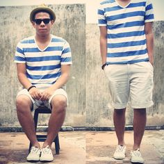 Nautical blue stripe t shirt