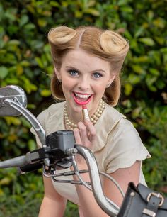 Image from the Art & Design Education Resource Guide (ADERG) 2016. 'Hair & Beauty Retro Shoot' Hair & Beauty TAFE NSW - Hunter TAFE designcentrehunter.edu.au Kirsten Woodforth Photography youtube.com/channel/UC6WZw9_YRzAq3tnUaoMXWXQ