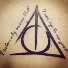 Harry potter tattoo = perfection .....I like have the lines look drawn