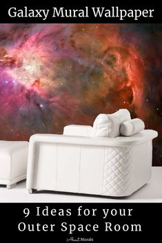 Click to see this galaxy mural and 8 other ideas for an outer space room (some of them featured on Cityline TV). The removable wallpaper features a stunning photograph of the Orion Nebula taken by NASA that's easy to hang for all you DIY enthusiasts. It's a totally surreal living room mural. See all the space murals and the How-To Hang Video from my blog! #outerspaceroom #nebula #wallpapermural Outer Space Bedroom, Living Room Murals, Orion Nebula, Nasa, Kids Room, About Me Blog, Photograph, Tv, Wallpaper