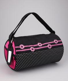 Take a look at this Sassi Designs Black Flowers Duffel Bag on zulily today!
