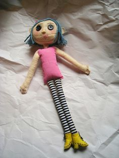 Coraline Personal Swap Package SentCoraline Personal Swap Package Sent by… Coraline Costume, Coraline Doll, Coraline Jones, Gothic Dolls, Sock Animals, Creepy Dolls, Soft Dolls, Halloween Cat, Diy Doll