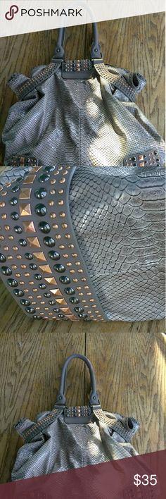 "Large Christian Audigier Metallic studded purse Christian Audigier Metallic studded purse Length 14"" Width 5"" Height 13"" Christian Audigier Bags Shoulder Bags"