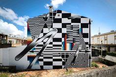 """Felipe Pantone, """"Opticromia para Lisboa""""in Lisbon, Portugal, 2016"""