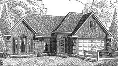 Eplans French Country House Plan - Two Bedroom French Country - 1997 Square Feet and 2 Bedrooms from Eplans - House Plan Code HWEPL69902....Weird but neat layout