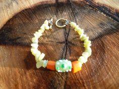 new jade, ceramic, glass bracelet by DesisDesignsShop on Etsy