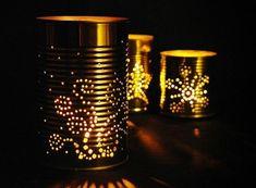 tischlampen dosen diy leuchten laternen