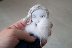 Winter Wind Art doll brooch gift for her by miopupazzo on Etsy