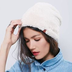 Polar bear beanie Ridiculously soft, plush beanie. It is so warm and cozy, the fuzzy material lines the inner band that touches your ears and forehead. I e only worn it twice, it sells on FP right now for 48. Free People Accessories Hats