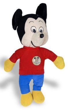 Mickey Mouse stuffed toy, between 1976 and 1977