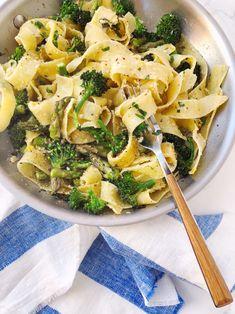 Wheat Pasta Recipes, Yummy Pasta Recipes, Vegetarian Recipes, Healthy Recipes, Asparagus Pasta, Lemon Pasta, Lemon Asparagus, Pappardelle Recipe, Pappardelle Pasta