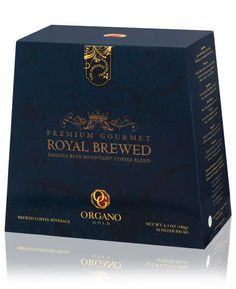 Premium Gourmet Royal Brewed. Let each sip of Organo Gold Premium Gourmet Royal Brewed coffee transport you to the idyllic Blue Mountains of Jamaica. That's where these beans are hand-sorted to ensure only the finest coffee makes it into this fresh, flavorful blend. Not only is the rich, luxurious aroma and flavor second to none, this coffee is infused with Ganoderma lucidum spores — a brew-it-yourself blend truly fit for royalty. 10 Filter Packs per Box