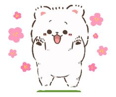 LINE Creators' Stickers - Syrup of a cub Example with GIF Animation Emoji, Emoticon, Gifs, Bear Gif, Korean Anime, Bee Party, Cute Love Cartoons, Cute Little Things, Aesthetic Gif