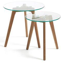 Table Oqui extensible ovale 120-200 cm, naturel et blanc   Salons ...