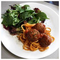 Meatballs Vegan with Bucatini pasta 🍝