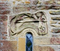 Early mediaeval plaque, St.George and the Dragon, Blessed Virgin Mary, Stoke-sub-Hamdon. | Flickr - Photo Sharing!