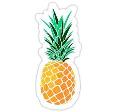 Pineapple Sticker Phone Stickers, Macbook Stickers, Cool Stickers, Bumper Stickers, Preppy Stickers, Red Bubble Stickers, Printable Stickers, Tumblr Sticker, Hydro Flask Stickers