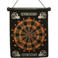 Rico Industries DRT1202 NFL Chicago Bears Magnetic Dart Board Set by Rico. $25.00. Whether you are looking for a unique piece of Bears merchandise to add to your game room, man cave or office, this Chicago Bears Magnetic Dartboard is a great way to have fun while displaying some team pride. Portable, lightweight and ready to hang, this Chicago Bears gear features team colors and graphics and six magnetic darts.
