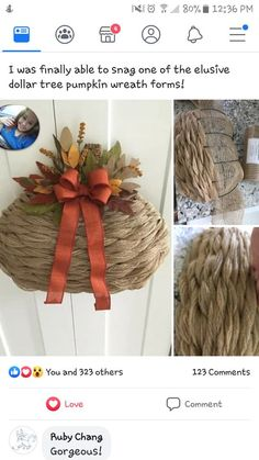 Thanksgiving Wreaths, Fall Wreaths, Mesh Wreaths, Wreath Making, Diy Wreath, Burlap Wreath, Dollar Tree Pumpkins, Dollar Tree Crafts, Pumpkin Wreath