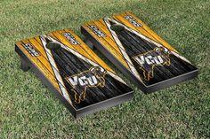 VCU Rams Reclaimed Wood w/ Triangle Bag Toss Game Set