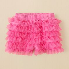 newborn - girls - ruffle matchables shorts | The Children's Place 2 for $15! in pink & white!
