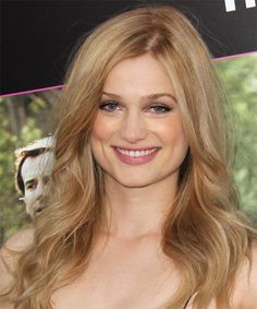 Alison Sudol Long Wavy Casual Hairstyle - Medium Blonde (Copper) | TheHairStyler.com