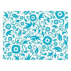 Vector seamless flower pattern of dark blue colour on a white... ❤ liked on Polyvore