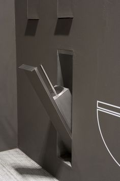 Edelstahl-Toilettenbürste / zum Einbauen SESAMO by Arkimera ANTONIO LUPI