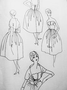 1950s Lovely Strapless Evening Dress and Bolero Pattern Vogue Couturier Design 101 Simonetta of Italy Design Cocktail Party Dress Bust 32 Vintage Sewing Pattern + Label