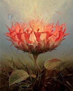 """Danse du feu"", de Vladimir Kush"