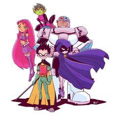 My new wallpaper 😍😍😍😍 Art b - Anime Teen Titans Starfire, Teen Titans Raven, Teen Titans Fanart, Teen Titans Go, Cartoon Fan, Cartoon Shows, Cartoon Characters, Original Teen Titans, Univers Dc