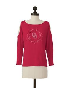 Oklahoma Sooners | Cutaway Shoulder Top | meesh & mia