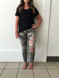 Warrior. CALLING ALL WARRIORS!!!! Your wardrobe needs these distressed camo pants.