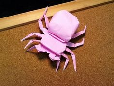 how to make an origami spider easy