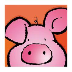 Pig Art Print