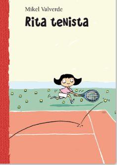 """""""Rita tenista""""    Rita quiere ser estrella del pop. Quiere ser famosa. Por ahora practica cogiendo la raqueta de tenis de su padre y se encierra en la habitación para ofrecer sus conciertos. Sus padres se dan cuenta de que le toma prestada la raqueta y creen que a su hija le gustaría jugar al tenis. Le tendrán preparada una gran sorpresa: asistir a clases. Como Rita no se atreve a decir la verdad, va a clase con desgana, aunque siempre con la intención de convertirse en famosa..."""