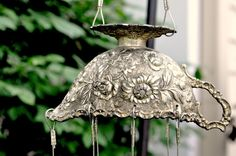 Wind Chime  Beautifully Detailed Vintage Silver by izzypaige, $50.00