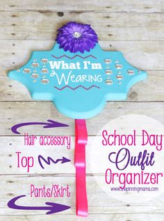 Free tutorial! | DIY School Day Outfit Organizer | Stay organized for back to school! :)