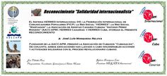 Reconocimientos 2014: José Luis Mosqueda Distinción Solidaridad Internacionalista